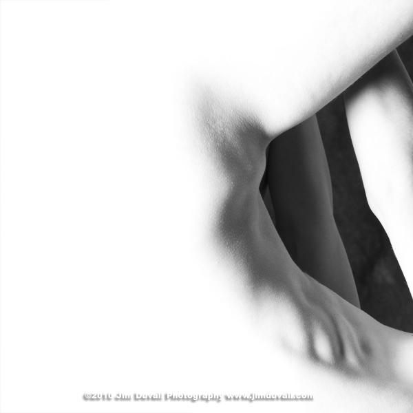 white image of a torso edge