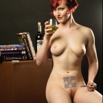 nude woman with sudoku tattoo