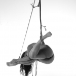 woman susended nude in rope model: gretchenable